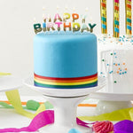 Rainbow Happy Birthday Candle Set