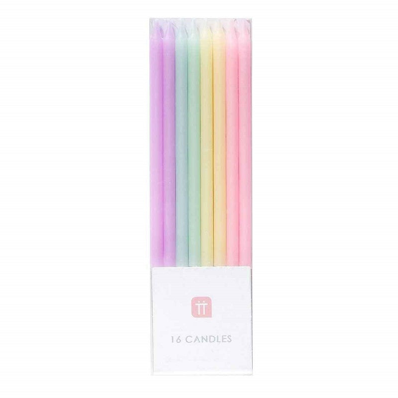 We Heart Pastel Candles (16 pack)