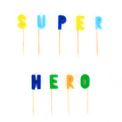 Superhero Candles