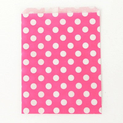 Candy Pink Dot Party Bags (10 pack)