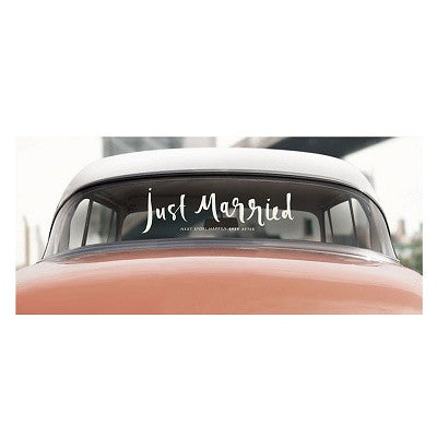 Kate Spade Just Married Car Decal