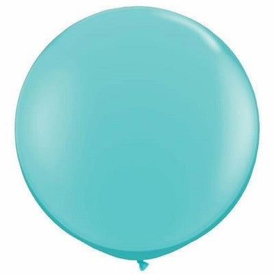 Caribbean Blue Giant 90cm Round Balloon