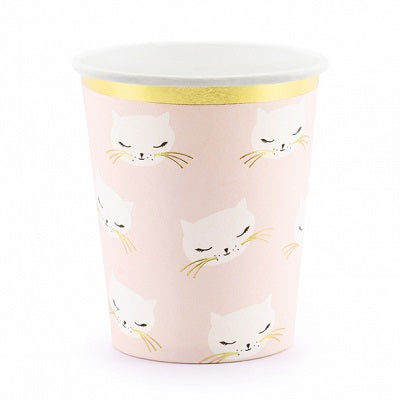 Pink Cat Cups (6 pack)