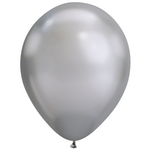 Chrome Standard 28cm & 18cm Mini Balloons (5 pack)