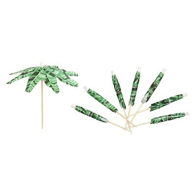 Palm Leaf Cocktail Umbrellas (24 pack)