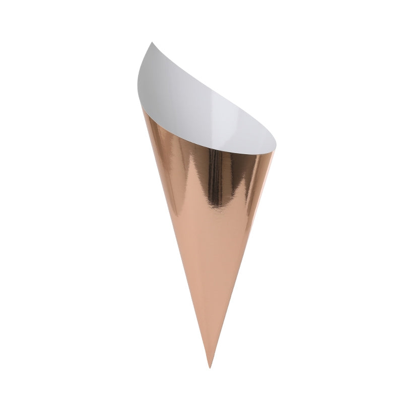 Metallic Rose Gold Snack Cones (10 pack)