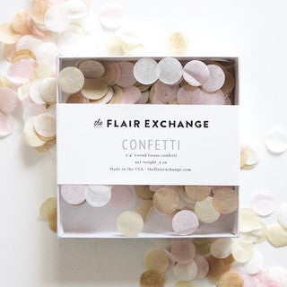 Blushing Handcut Confetti Box