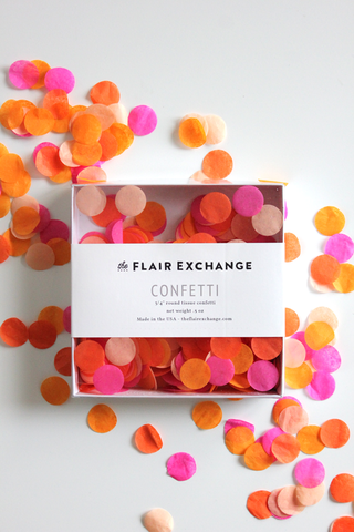 Bright Handcut Confetti Box