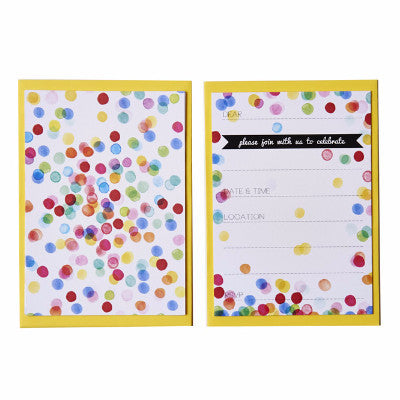 Confetti Invitations (10 pack)
