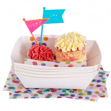 Confetti Paper Dishes (10 pack)