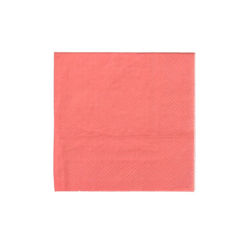 Coral Cocktail Napkins (20 pack)