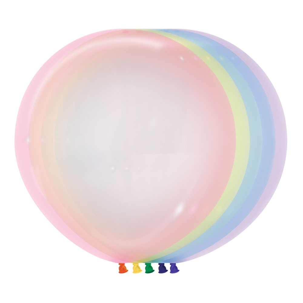 Crystal Pastel Giant 60cm Balloon (5 colours)
