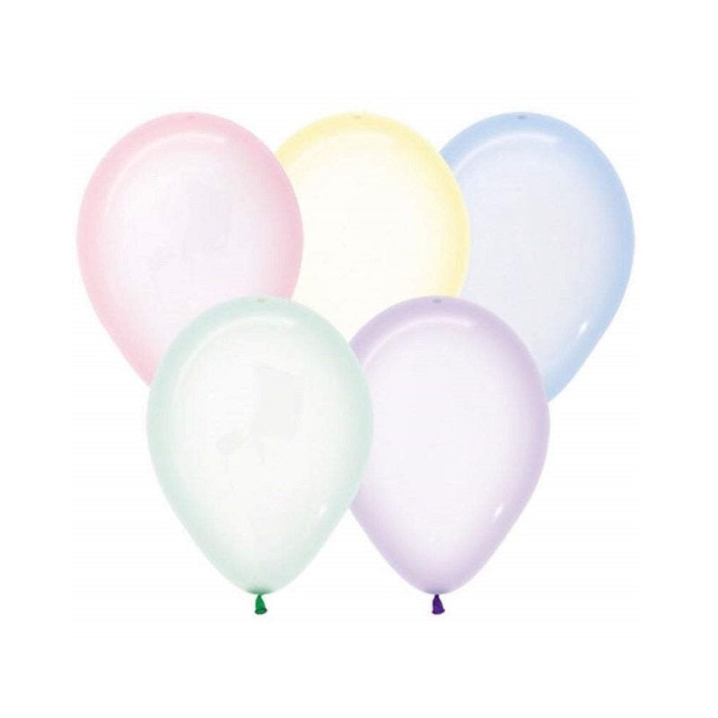 Crystal Pastel Mini 12cm Balloons (5 pack)