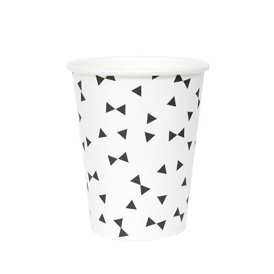 Black Bow Tie Cups (8 pack)