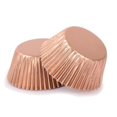 Metallic Rose Gold Cupcake Cases (25 pack)