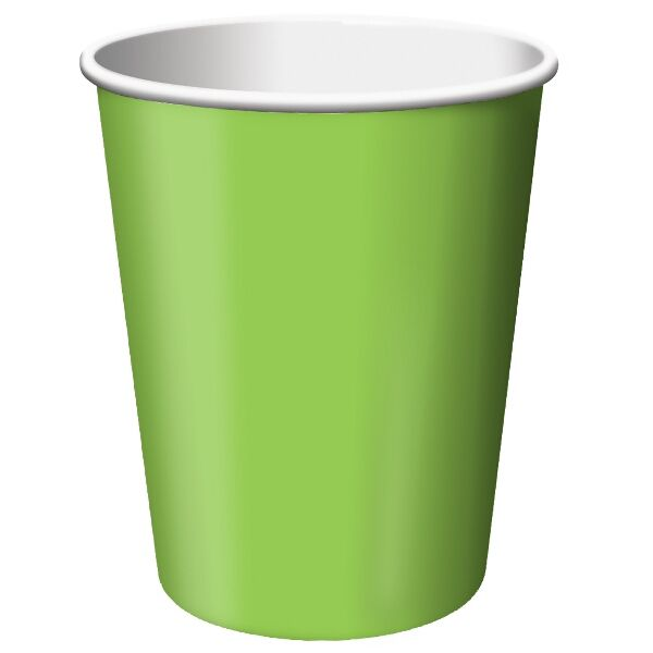 Lime Green Party Cups (24 bulk pack)