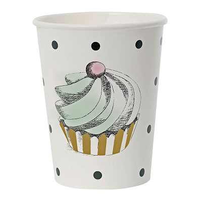Cake & Dots Cups (8 pack)