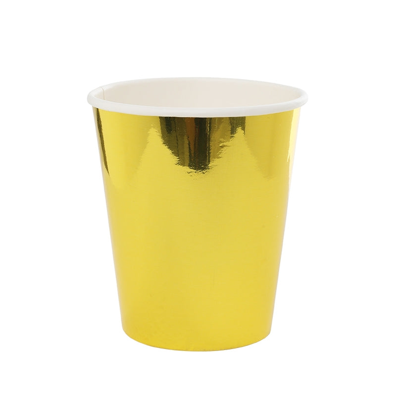 Metallic Gold Cups (10 pack)