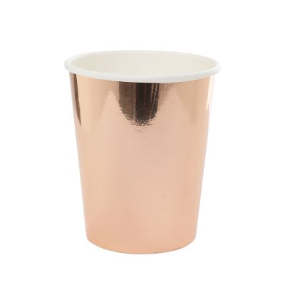 Metallic Rose Gold Cups (10 pack)