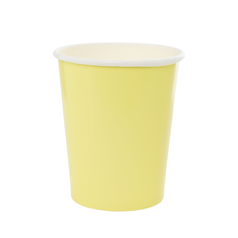Pastel Yellow Cups (10 pack)