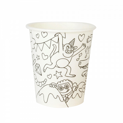 Party Colouring Cups (8 pack)
