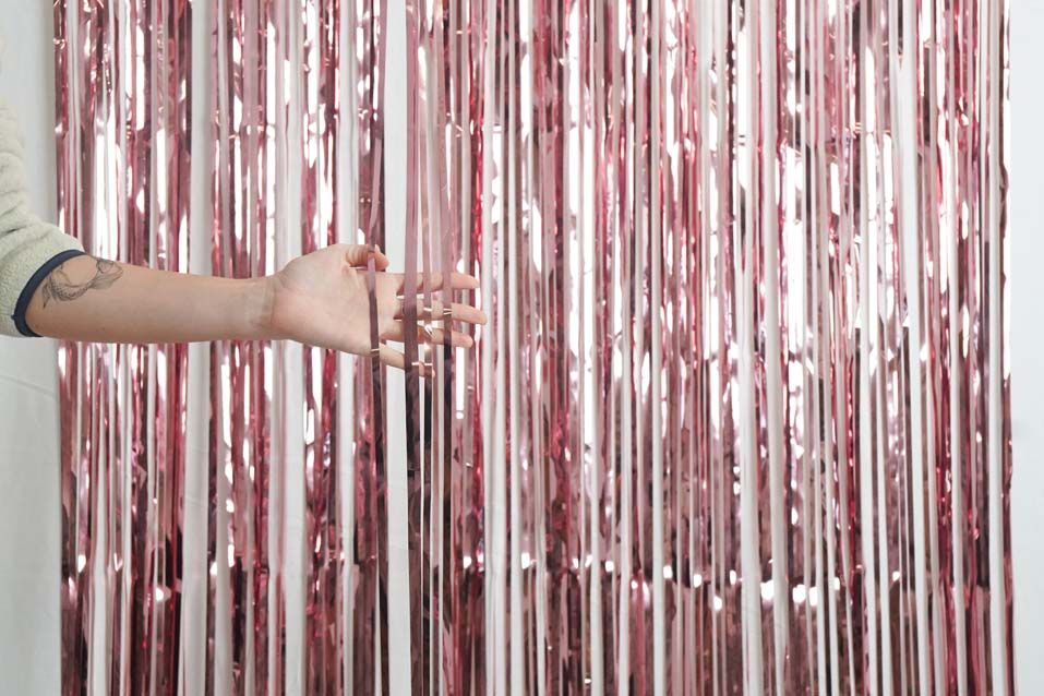 Light Pink Foil Curtain (1m)