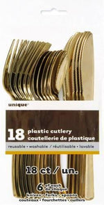 Metallic Gold Cutlery Set (6 sets)