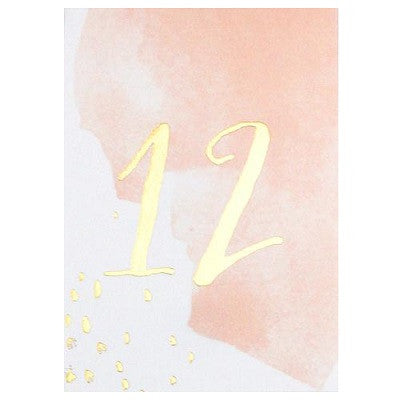 Daydream Watercolour Table Numbers (11-20)