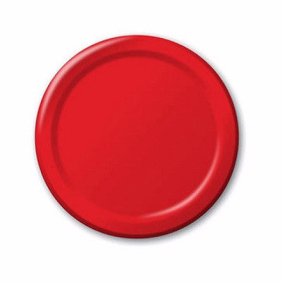 Red Dessert Plates (24 pack)