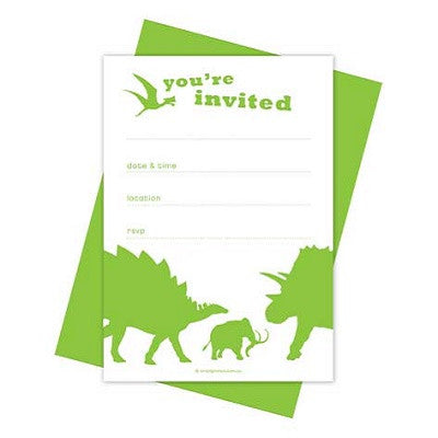 Dino Fun Party Invitations (10 pack)