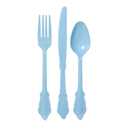 Blue Fancy Cutlery Set (8 sets)