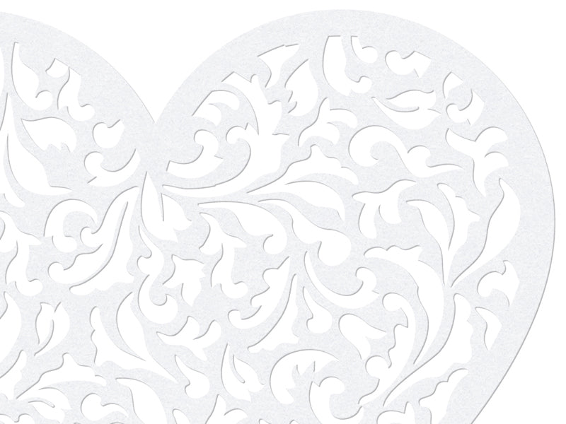 White Lace Heart Doilies (10 pack)