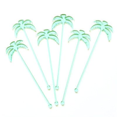 Palm Tree Stirrers (6 pack)