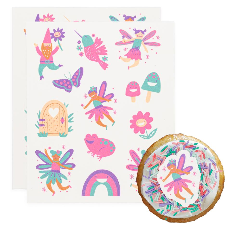 Fairy Fun Stickies Edible Decorating Stickers (24 pack)