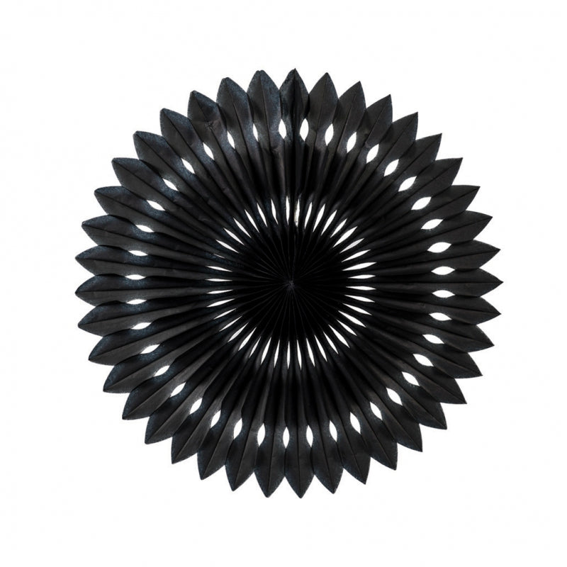 Black Paper Hanging Fan (40cm)