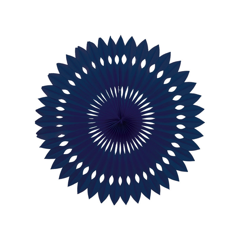 Navy Blue Paper Hanging Fan (40cm)