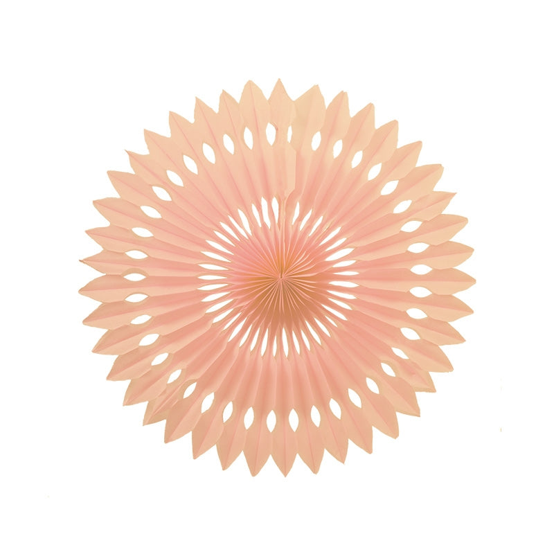 Peach Paper Hanging Fan (40cm)