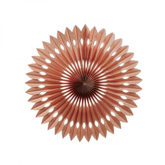 Rose Gold Paper Hanging Fan (40cm)