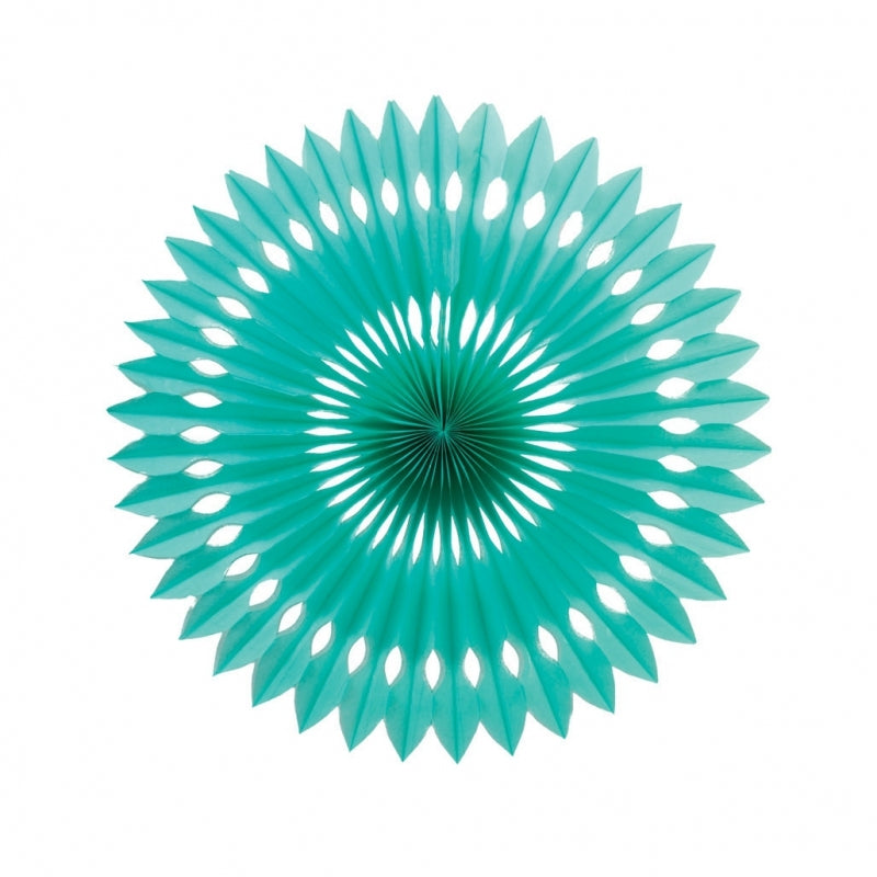 Turquoise Paper Hanging Fan (40cm)