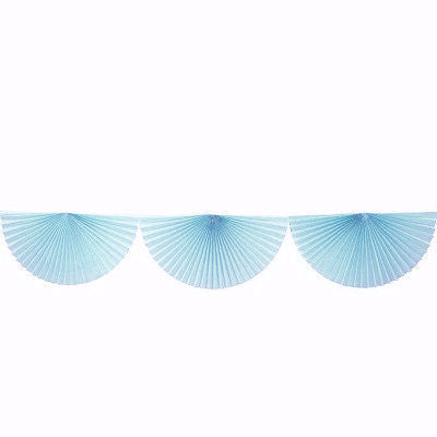 Pale Blue Paper Fan Garland (3m)