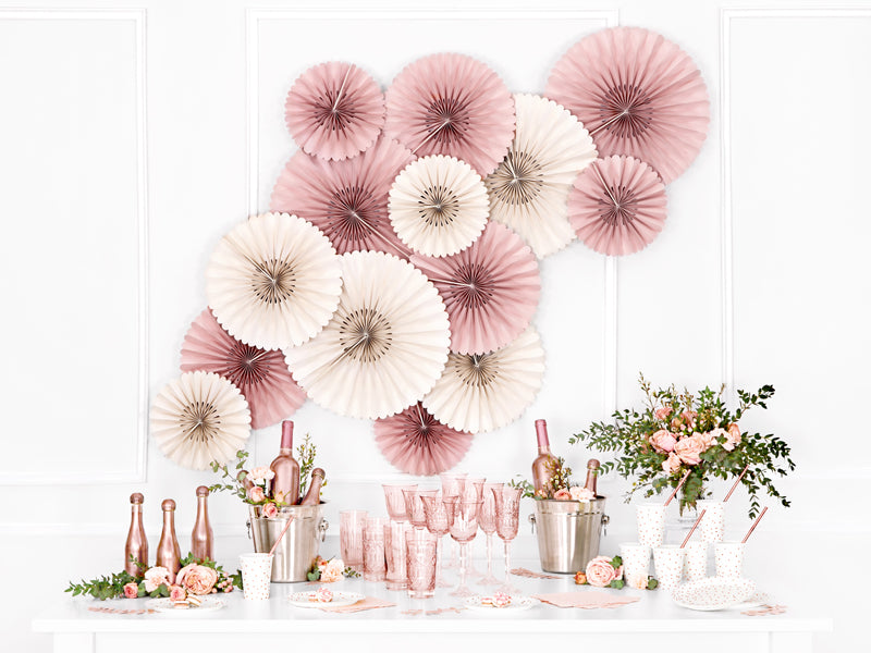 Dusty Rose Fans (3 pack)