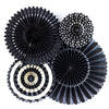 Black Party Fans (4 pack)