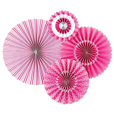 Bubblegum Party Fans (4 pack)