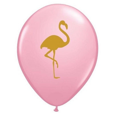 Pink & Gold Flamingo 28cm Balloons (3 pack)