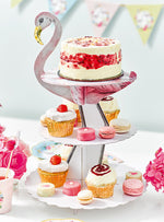 Flamingo Tiered Cake Stand