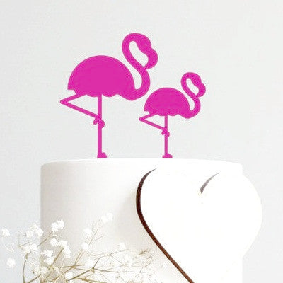 Fuchsia Flamingo Toppers (2 pack)