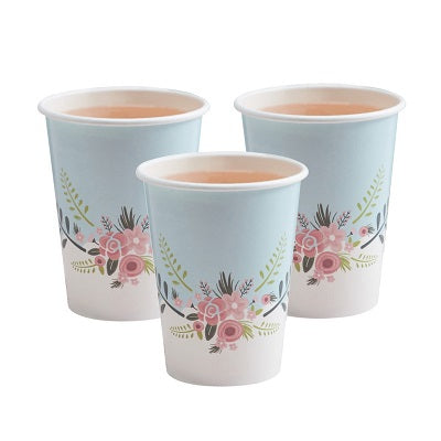 Floral Fancy Cups (8 pack)