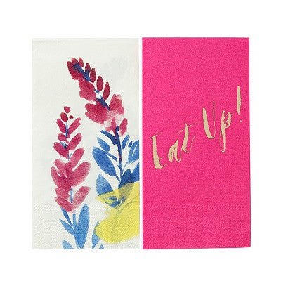 Fluorescent Floral Duo Napkins (20 pack)