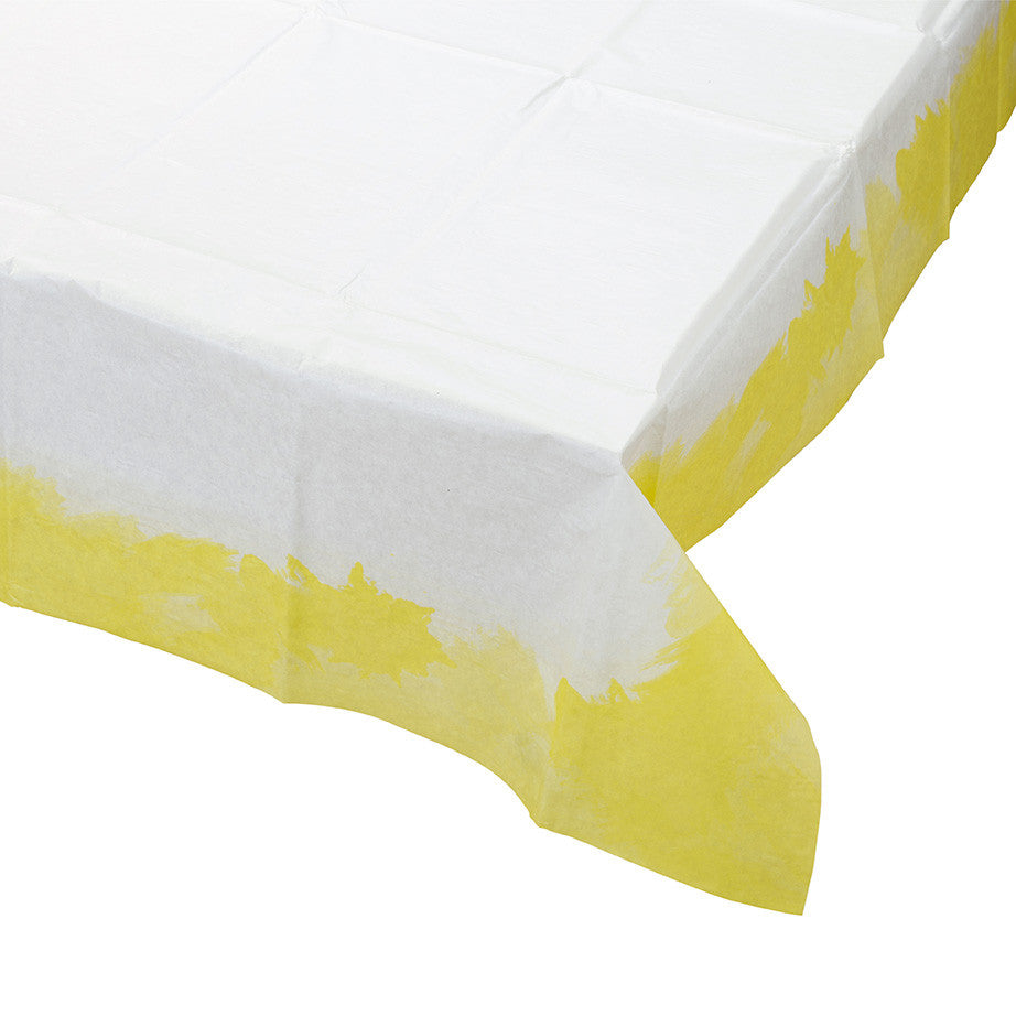 Fluorescent Yellow Tablecloth