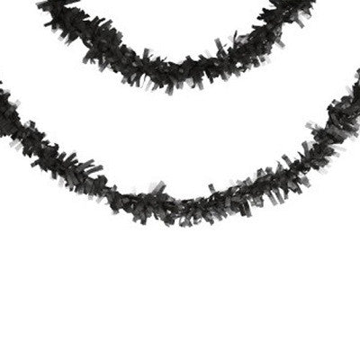 Black Tissue Fringe Garland (7m)